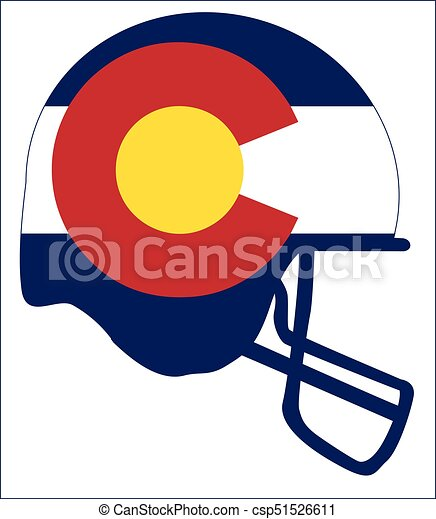 Colorado State Flag Football Helmet The Flag Of The Usa State Of