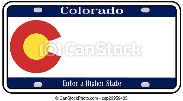 Colorado State License Plate   Csp23959433