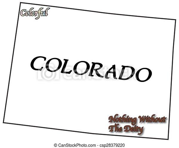 Colorado State Motto And Slogan   Csp28379220