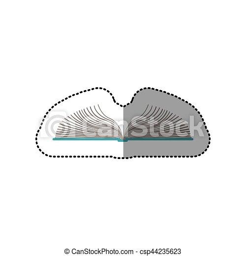 colorare, adesivo, mezzo, libro, uggia, aperto - csp44235623