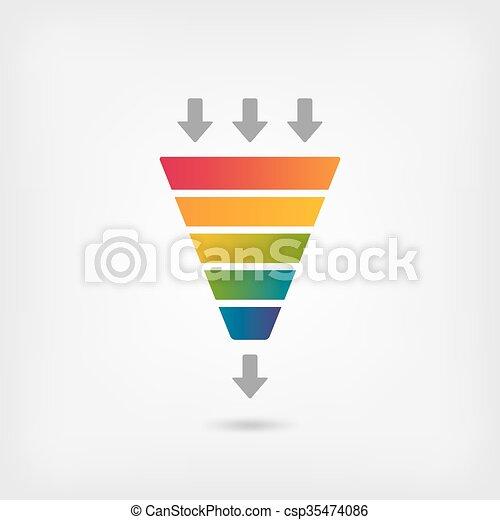 Colorare Arcobaleno Imbuto Marketing Arcobaleno Imbuto