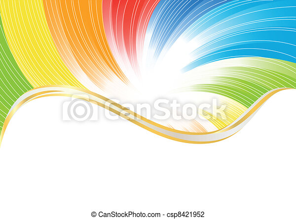 colorare, astratto, vettore, luminoso, fondo - csp8421952