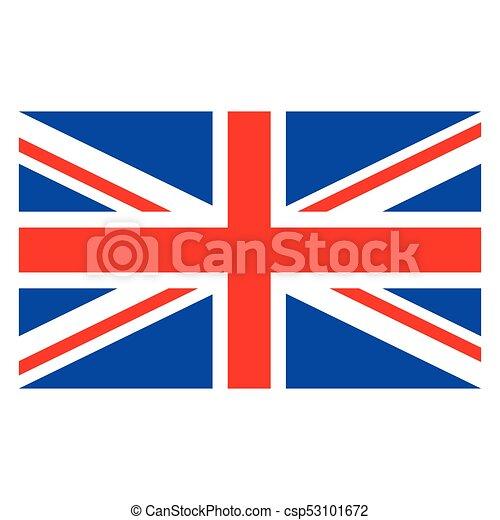 Bandiera Inglese Da Colorare.Colorare Bandiera Inglese Vettore Grande Unito Isolato