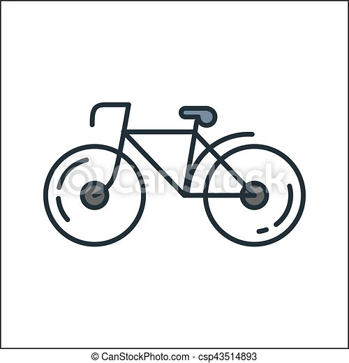 Colorare Bicicletta Disegno Illustrazione Icona
