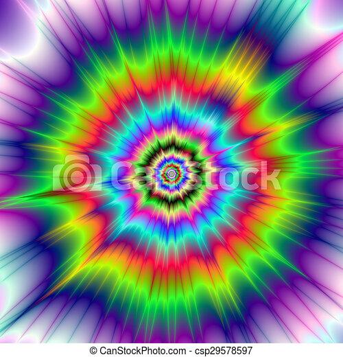Colorare Esplosione Psichedelico Esplosione Blu Colorito