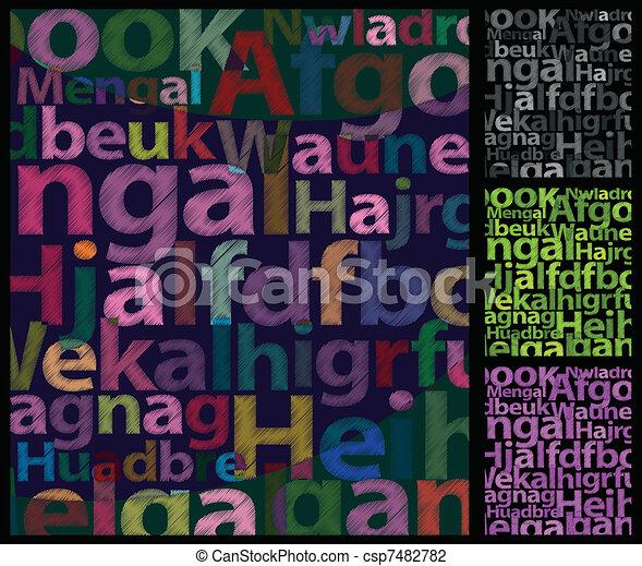 colorare, fondo., lettere - csp7482782