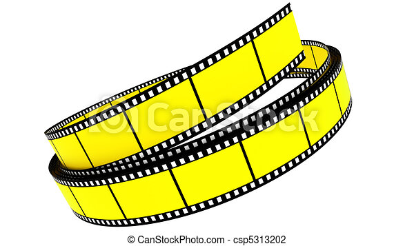 colorare, rotolato, segmento, su, film - csp5313202