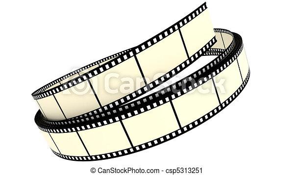 colorare, rotolato, segmento, su, film - csp5313251
