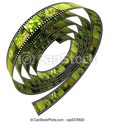 colorare, rotolato, segmento, su, film - csp5376822