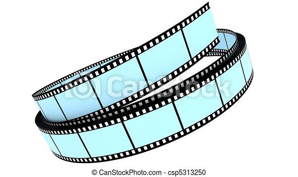 colorare, rotolato, segmento, su, film - csp5313250