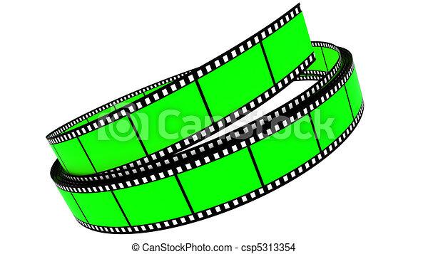 colorare, rotolato, segmento, su, film - csp5313354