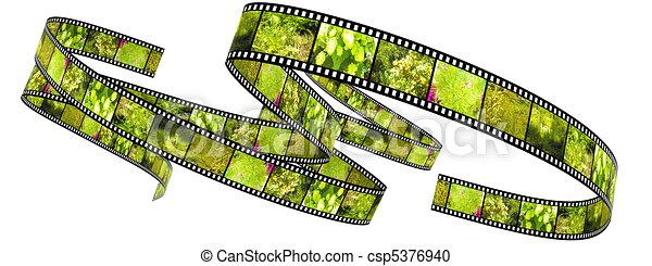 colorare, rotolato, segmento, su, film - csp5376940