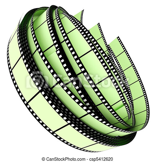 colorare, rotolato, segmento, su, film - csp5412620