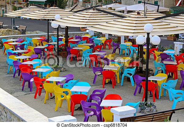 Stock Sedie In Plastica.Colorare Sedie Colorare Plastica Caffee Sedie Terrazzo Lotto