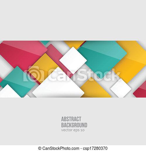 colorare, squares., vettore, astratto, fondo - csp17280370