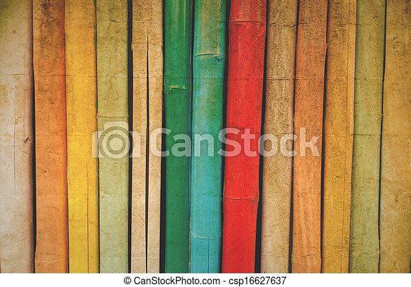 colorare, vendemmia, bambù, struttura - csp16627637
