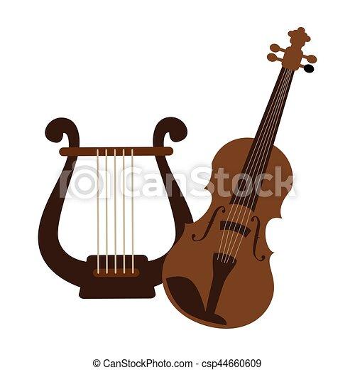 Colorare Violino Silhouette Arpa Silhouette Colorare