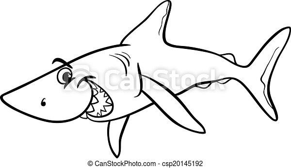 Coloration requin livre dessin anim animal requin coloration mer fish vie - Requin en dessin ...