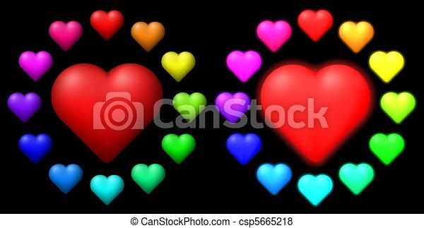 colorato, hearts., set - csp5665218