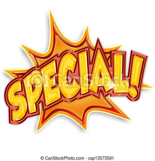 colorato, isolato, fondo, bianco, cartone animato, speciale - csp13573591