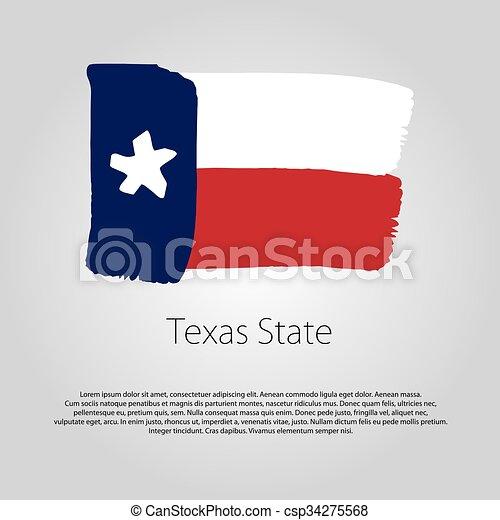 Coloreado, formato, líneas, bandera, mano, estado, vector, dibujado ...