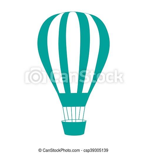 Coloreado, globo, aire, estilizado, rayado, icono.... vectores ...