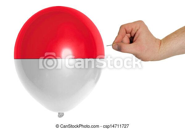 Coloreado, muy lleno, nacional, señalador de indonesia, globo ...