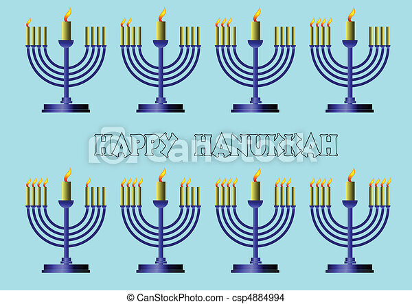 Simbolos Hanukkah. Vector coloreado il - csp4884994