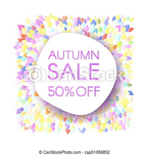 Colorear intensamente, hojas, venta, otoño, bandera, ramo ...