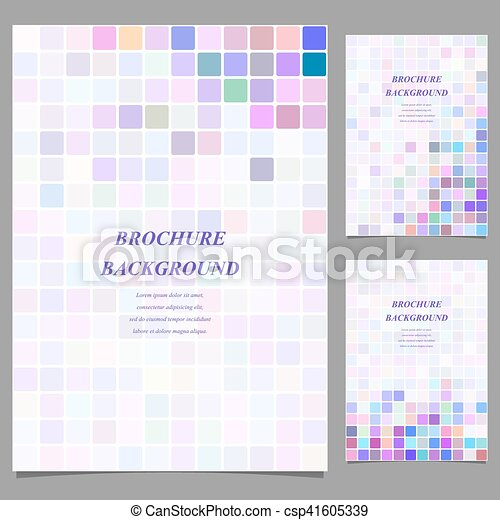Colored Abstract Square Brochure Template Design
