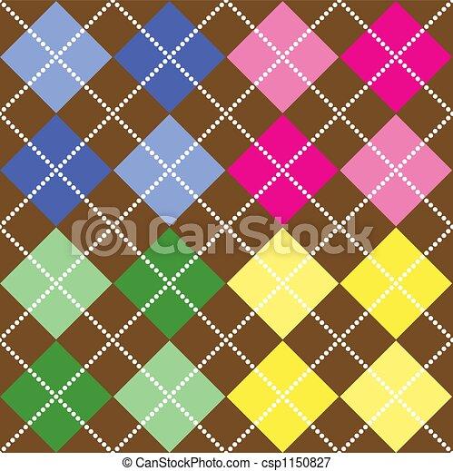 Colored Argyle Pattern - csp1150827