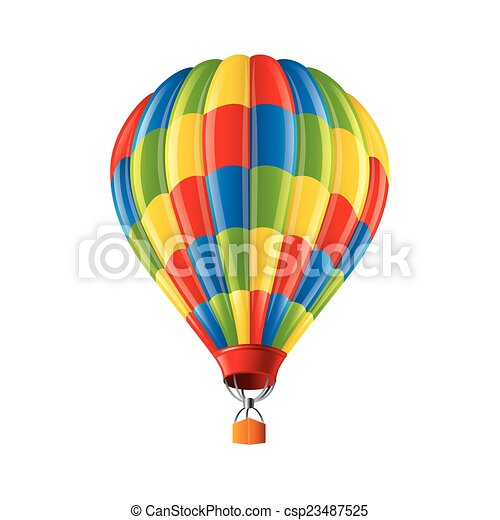 colored balloon isolated on white vector colored balloon isolated