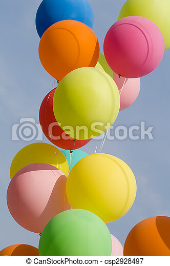 colored balloons - csp2928497