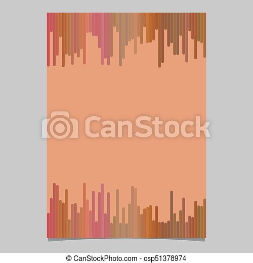 Colored Brochure Template Blank Vector Stationery Document