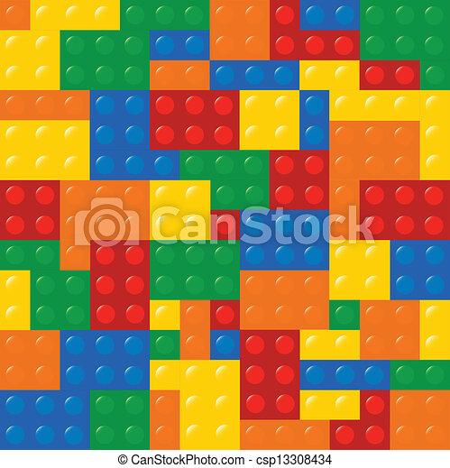 Colored Building Blocks - csp13308434