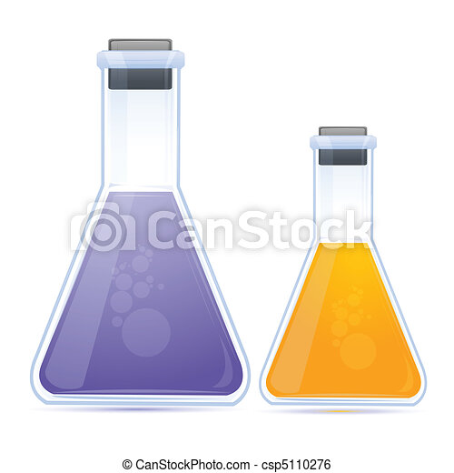 colored chemical in flask - csp5110276