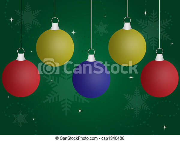 Colored Christmas Ornaments Csp1340486
