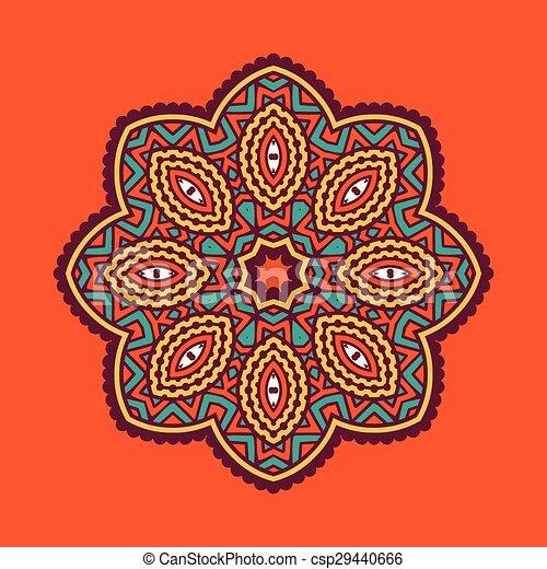 colored circular ornament in Orient - csp29440666