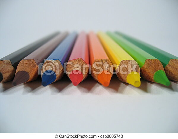 Colored Crayons I - csp0005748
