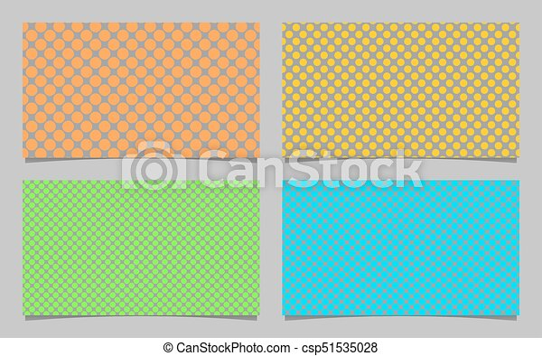 Colored Dot Pattern Business Card Background Set