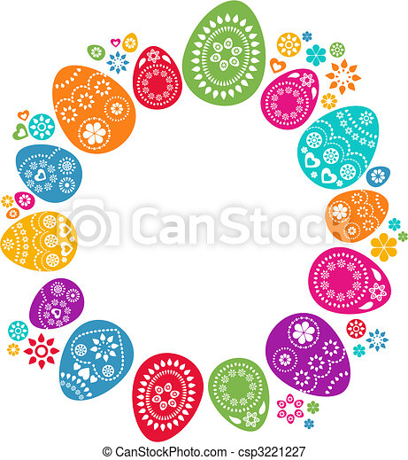 Colored Easter eggs - csp3221227