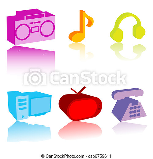 Colored electronic gadgets - csp6759611