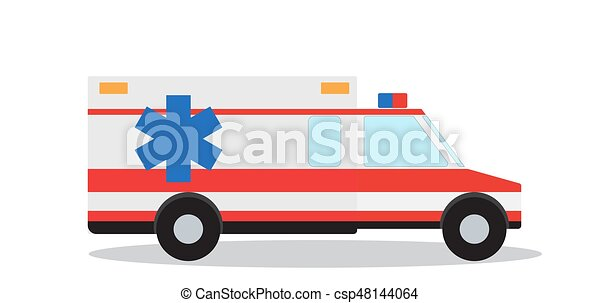 colored emergency ambulance with siren flat design vector clip rh canstockphoto com ambulance clipart black and white ambulance clipart pictures