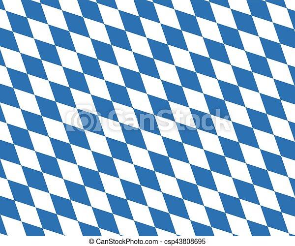 Colored flag of Bavaria - csp43808695