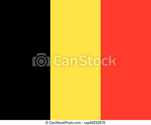 Colored flag of Belgium - csp49232876