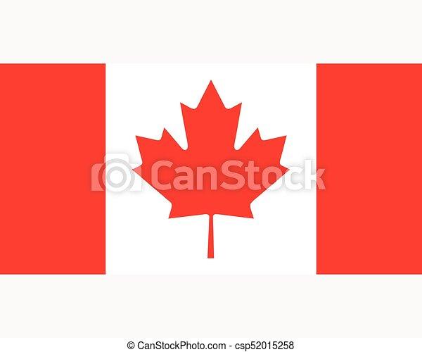 Colored flag of Canada - csp52015258