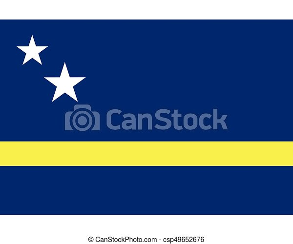 Colored flag of Curacao - csp49652676