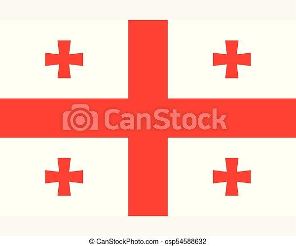 Colored flag of Georgia - csp54588632