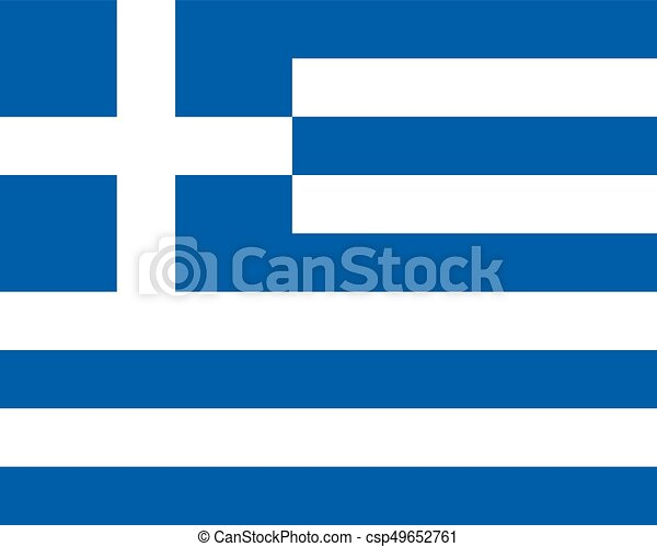 Colored flag of Greece - csp49652761