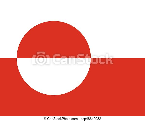 Colored flag of Greenland - csp48642982